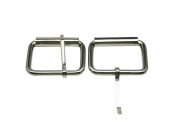 Tianbang Silvery 3.8cm Inside Length Rectangular Buckle with Sliding Bar for Loose Ring Pack 8