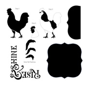 Rise and Shine Rooster Layered Art Stencil