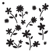 Flower Power - Pattern Stencil - 15cm x 15cm