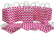 Medium Kraft Gift Bag, Chevron Design, Bulk set of 2 Dozen