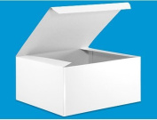 Cakesupplyshop Item# 5894y - 10 Count Decorative White Gloss Gift Wrap Box, 8 By 8 By 4-inc
