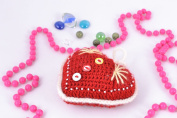Handmade soft crochet toy heart