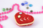 Soft crochet toy small heart