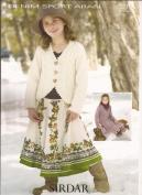 Cardigan in Denim Sport Aran - Sirdar Knitting Pattern 2235