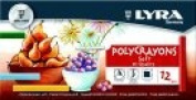 Lyra Non-Toxic Soft Poly-Crayon, Assorted Colour, Pack 12