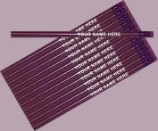 ezpencils - Personalised Metallic Pink Round Pencil - 12 pkg - ** FREE PERZONALIZATION **