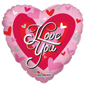 I Love You Big Heart - Heart Shaped 43cm Mylar Balloon Bulk
