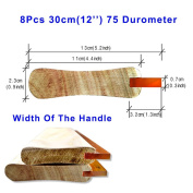 8pcs For Each Kinds Width Of Handle Oiliness 75 Durometer Silk Screen Printing Squeegee (Oiliness 30cm