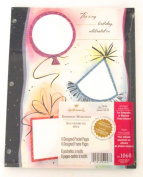 Birthday Memories, 6 Designed Pocket Scrapbook Pages for Hallmark Keepsake or Medium Photo Albums