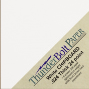 50 Sheets Chipboard 24pt white 1 side - 10cm X 10cm (10cm X 10cm ) Small Square Size - Light Medium Weight Thickness .024 (point) Calliper White Coated Cardboard Paper Craft|Packaging PaperBoard