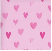 Mambi 12x12 Scrapbook Paper - Hearts Style #2 - 6 Sheets