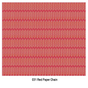 Craft Consortium Festive Decoupage Paper Pack of 3 - 031 Red Paper Chain