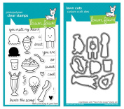 Lawn Fawn - Here's the Scoop - Clear Stamp and Die Set