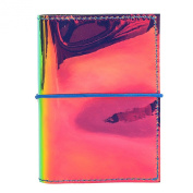 Zarapack Women's Hologram Pu Leather Business Credit Card Case Id Holder Mini Wallet