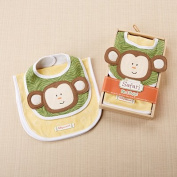 Baby Aspen Safari Bib and Burp Set, Yellow/Green/Multi, 0-6 Months
