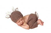 Pinbo Newborn Baby Photography Prop Crochet Knitted Deer Hat Pants