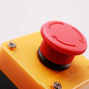 Toolmall Red Sign Emergency Stop Push Button Switch 660V 10A