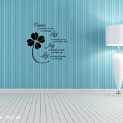 Aiwall Wall Stickers Dance Live and Love for Living Room DIY Home Decorations Wall Decals 9125