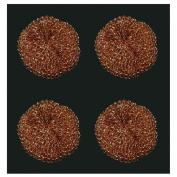 4pc Copper Scouring Pads for Cookware Cook Tops Ovens and Grills