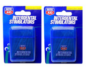 200 Rite Aid Wooden Dental Picks Gum Stimulators -2 Pocket Sized Carrying Cases