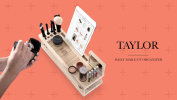 Taylor Beauty Station - Daily Makeup Organiser with Mirror