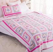 Norson Ballet Girls Bedding Sets / Pink Cartoon Bedding Sets / Kids Bedding / Bedspread Set / 2pc