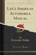 Lee's American Automobile Manual