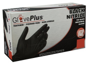 Ammex GPNB GlovePlus Black Nitrile Glove, Latex Free, Disposable, Powder Free, Small