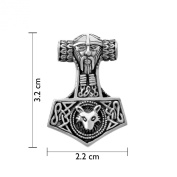 "WithLoveSilver Sterling Silver Trinity Celtic Viking Amulet "" Hammer of Thor (Mjolnir)"" Pendant"