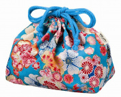 Pouch with drawstring for Bento Box Yuzen Blue