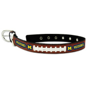 NCAA Michigan Wolverines Leather Dog Collar