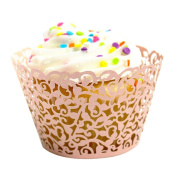 Outtop 24pc New Vine Lace Laser Cut Cupcake Wrapper Liner Muffin Baking Cup Wedding Birthday Party Decoration, 24 Pack