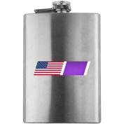 Vintage American Flag Purple Heart Blend Veteran 240ml Flask