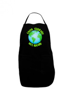 TooLoud Think Globally Act Locally - Globe Dark Adult Apron