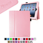 Fintie (Pink) Folio Leather Case Cover for iPad 4th Generation With Retina Display, the New iPad 3 & iPad 2 (Built-in magnet for sleep / wake feature)-9 colour options