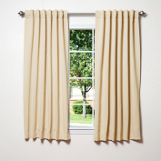 Best Home Fashion Thermal Insulated Blackout Curtains - Back Tab/ Rod Pocket - Beige - 130cm W x 160cm L -