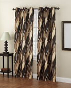 No. 918 Intersect Curtain Panel, 120cm by 160cm , Charcoal