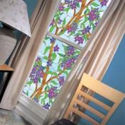 Biscayne Privacy Stained Glass Decorative Window Film 41cm x 220cm