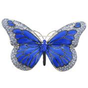 Blue Monarch Butterfly Crystal Pin Brooch
