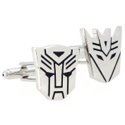 Silver Autobot And Decepticon Transformer Cufflinks