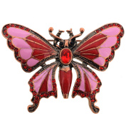 Vintage Style Red Butterfly Pin Brooch