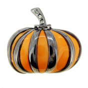 Halloween Metallic Pumpkin Pin Brooch