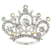 Crystal Crown Pin Brooch and Pendant