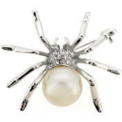 White Pearl Spider Pin