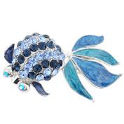 Blue Goldfish Crystal Pin Brooch