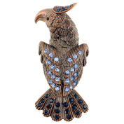 Patriotic Vintage Blue Eagle Brooch Pin