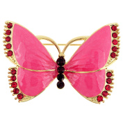 Pink Butterfly Pin Brooch