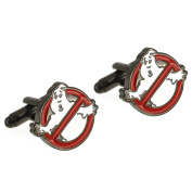 Red and White Ghostbusters Cufflinks