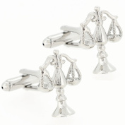 Legal And Lawyer Scales Of Justice Silver Cufflinks