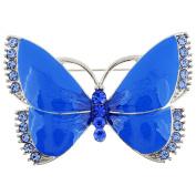 Blue Butterfly Crystal Pin Brooch